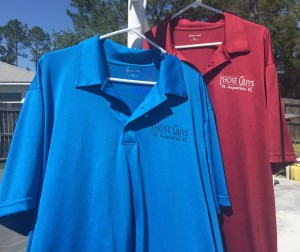 Blue & Red Golf Shirts 2