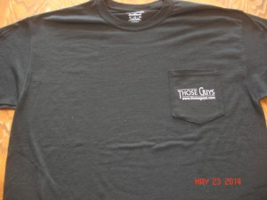 Men's Pocket Tee in Black (front)