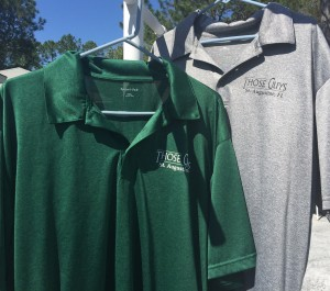 Green & Gray Golf Shirts